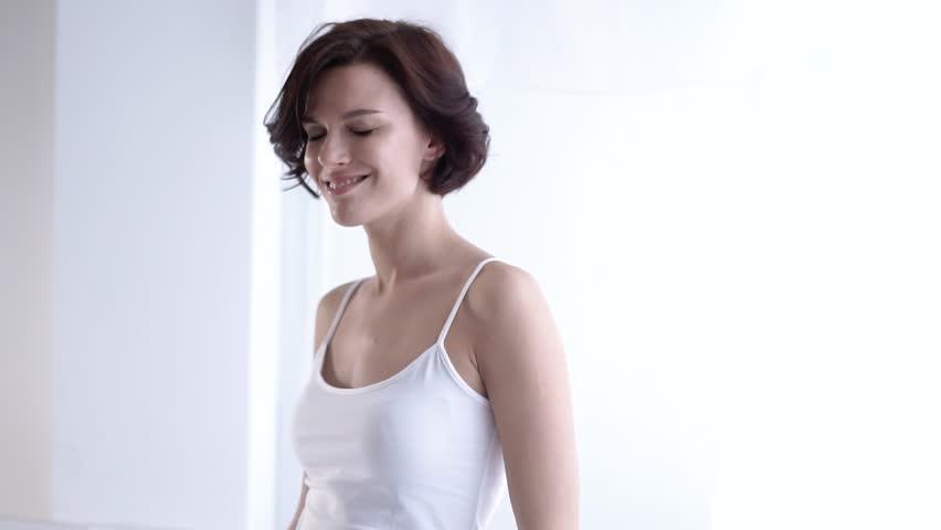 Skin Care. Woman Using Deodorant Spray For Armpit Skin