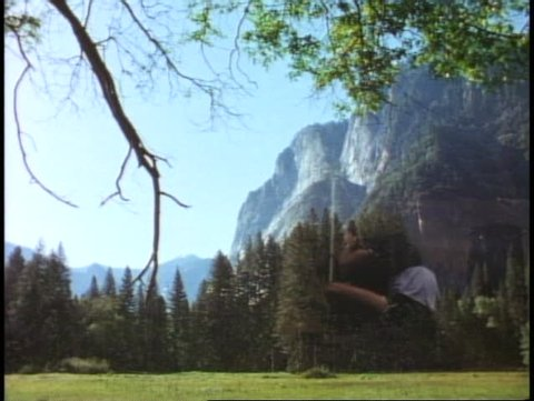 YOSEMITE NATIONAL PARK, CALIFORNIA, 1978, mountains, meadow, wide view