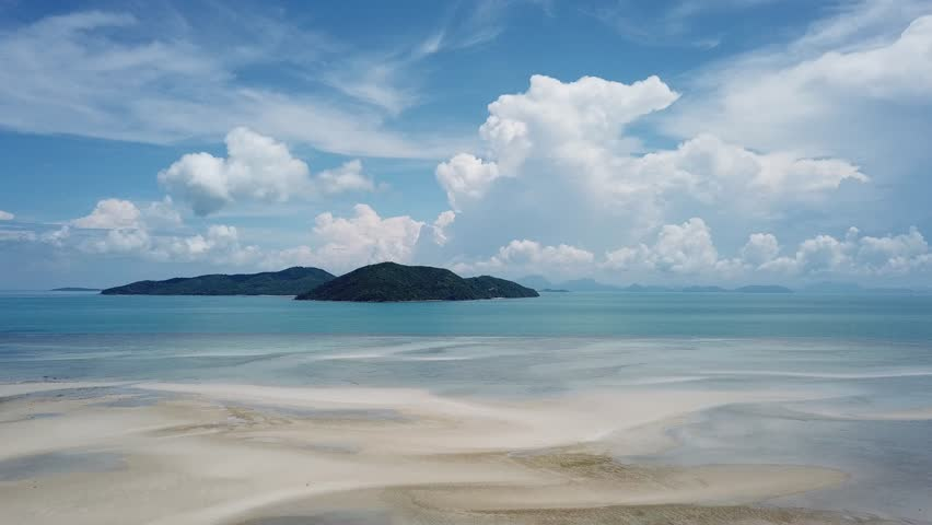 Paradise beach on the island of Koh Samui in the Gulf of Thailand. | Shutterstock HD Video #1015384396