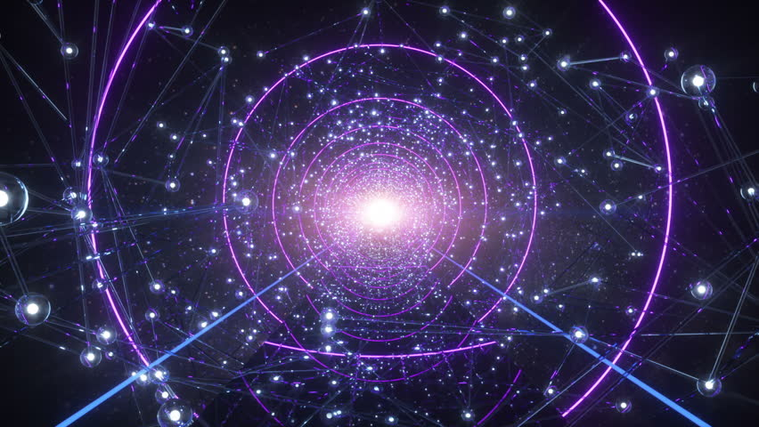 The Way Of The Soul Flying Throught Stars Tunnel In The Universe   Shutterstock HD Video #1015458526
