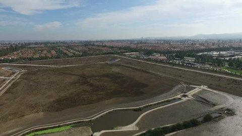 Aerial of Residential Neighborhood Irvine Orange County California USA