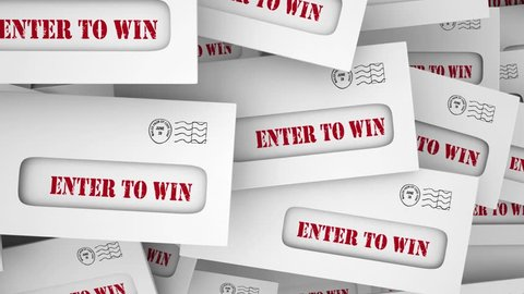 Enter to Win Submit Entry Contest Raffle Envelopes 3d Animation