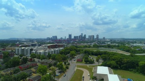 Aerial Downtown Nashville Tennessee USA