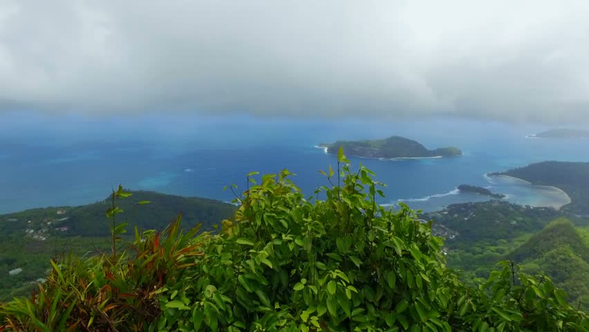 Panorama Of The Mahe Island form Morne Blanc View Point, Seychelles