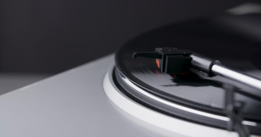 Turntable with spinning vinyl #1015689406