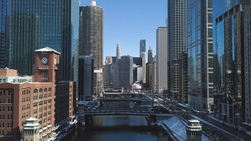 Aerial view of Downtown Chicago