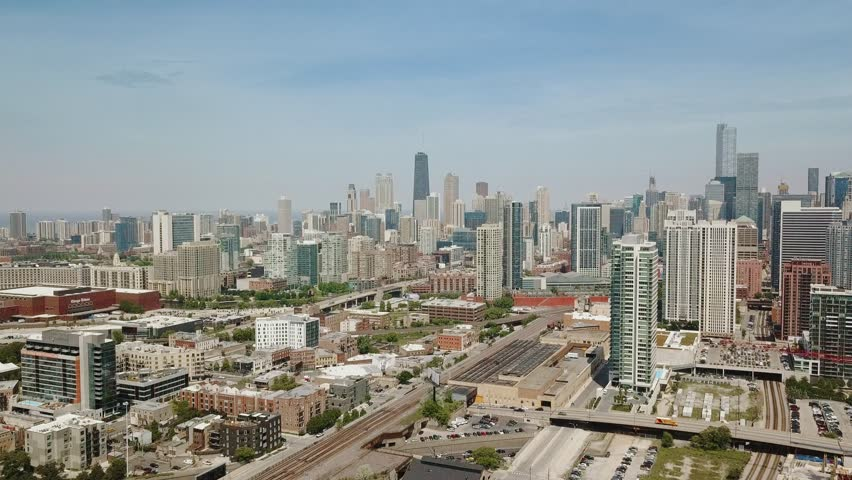 Chicago Skyline With Many Large Stock Footage Video 100 Royalty Free 1015798426 Shutterstock