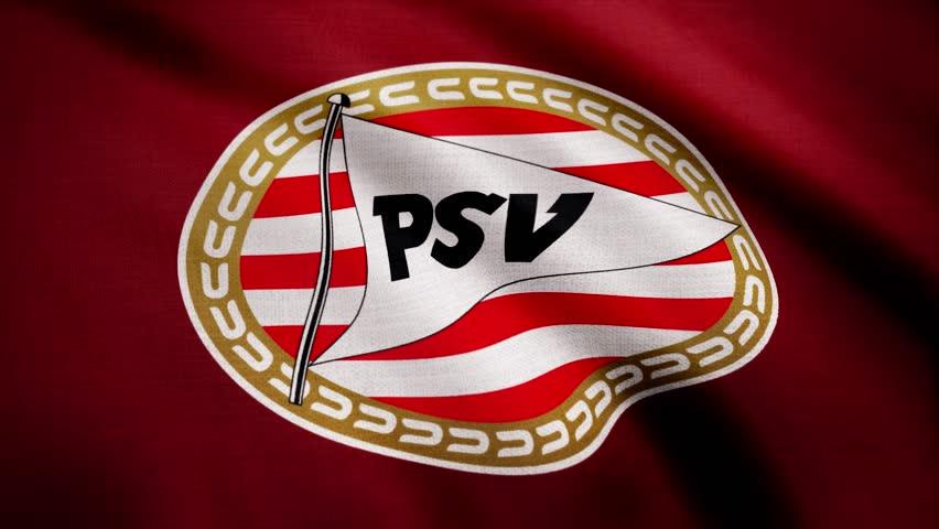 USA - NEW YORK, 12 August 2018: Eindhoven, Nederland- Animated logo of Nederland football club PSV Eindhoven. Editorial footage