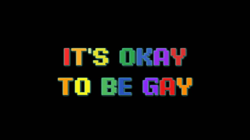 Inscription it's ok to be gay in 90