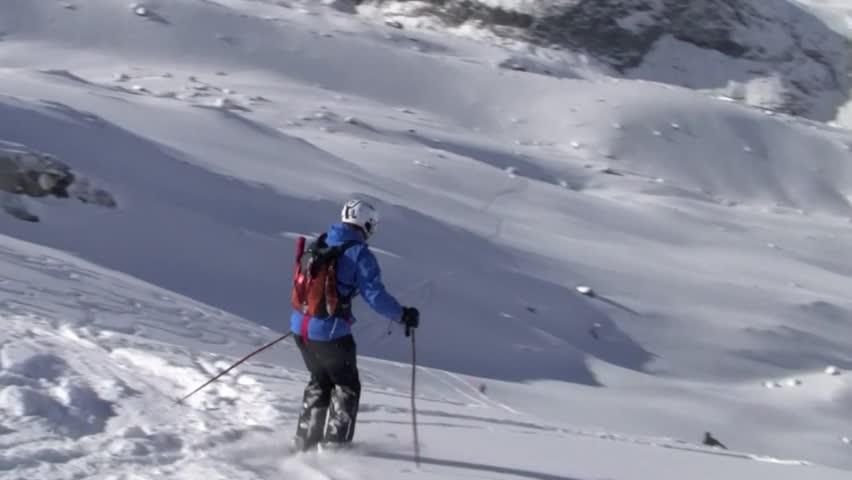 Deep Powder Skiing on Monte Rosa, Zermatt, Switzerland #1015825576