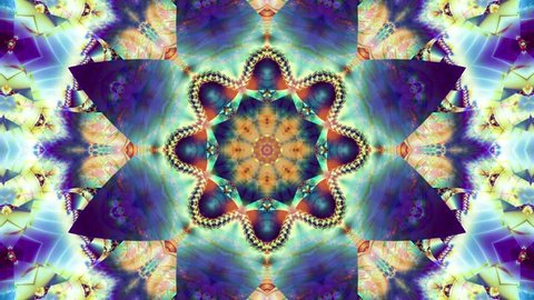 Red kaleidoscope sequence patterns. 4k Abstract multicolored motion graphics background.  Beautiful bright ornament. Seamless loop.