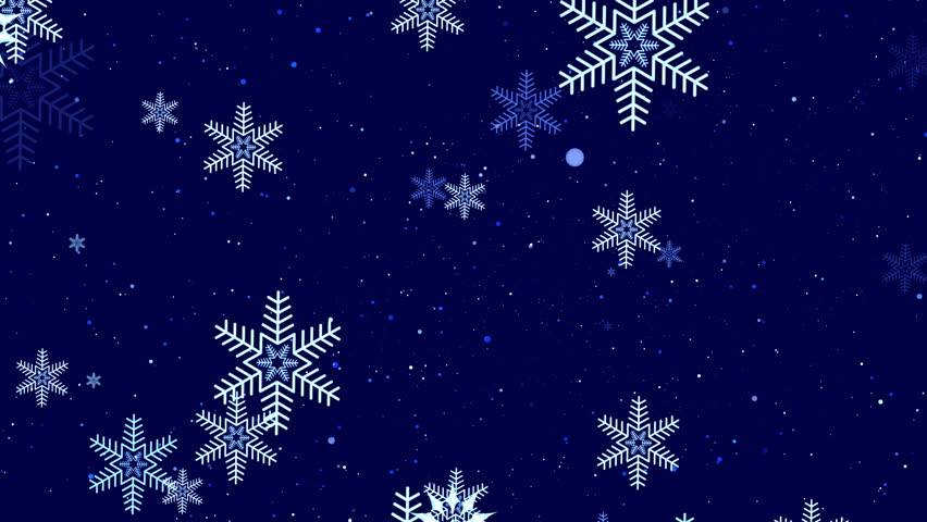 animated new years beautiful screen saver with snowflakes in blue tones 3d rendering