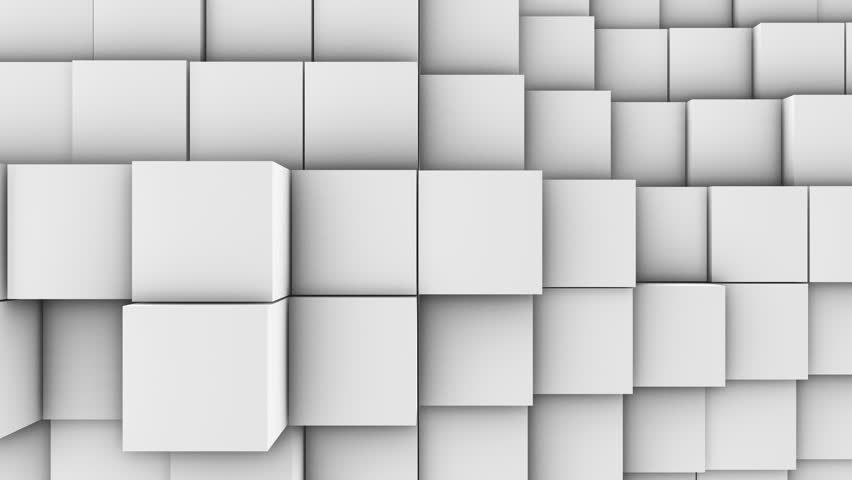 A lot of white cubes on the surface of the whole screen, volumetric wave-like movement of cubes densely adjacent to each other, slow motion 4K abstract background | Shutterstock HD Video #1016159056