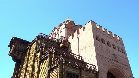 Beautiful ancient church in the old town of Nessebar, Bulgaria. HD video