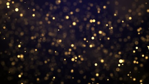 Golden glitter dust is falling down. The Camera is flying through a field of glitter dust. This clip is perfect for exclusive and high quality events like an award show.