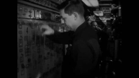CIRCA 1972 - The USS John Calhoun submarine completes its historic patrol (narrated in 1973).