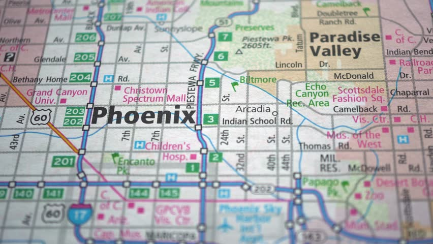 Phoenix On Usa Road Map, Stock Footage Video (100% Royalty-free) 1016343106  | Shutterstock