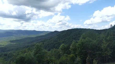 This is a zoom in on Appalachian Mountains at the top of Amicalola Falls