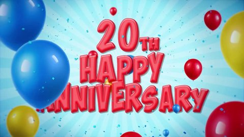 20th Birthday Balloons Royalty Free Stock Footage