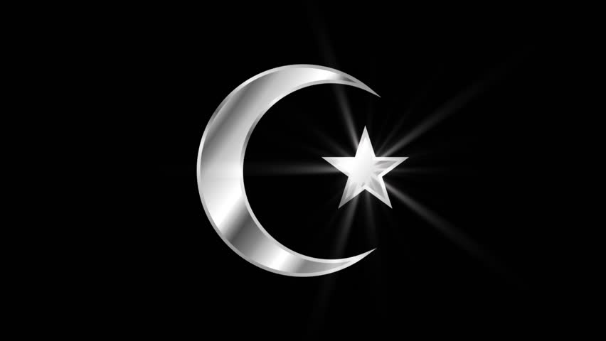 Stock Video Of Crescent Moon And Star Religious Symbol 1016567509