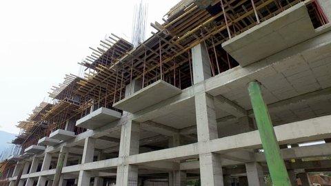 Concrete building construction industrial site