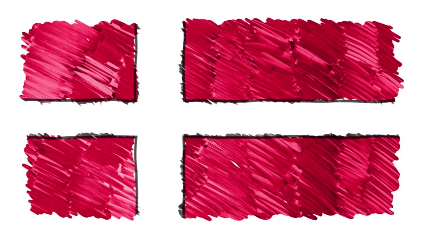 stop motion marker drawn Denmark flag cartoon animation background new quality national patriotic colorful symbol video footage