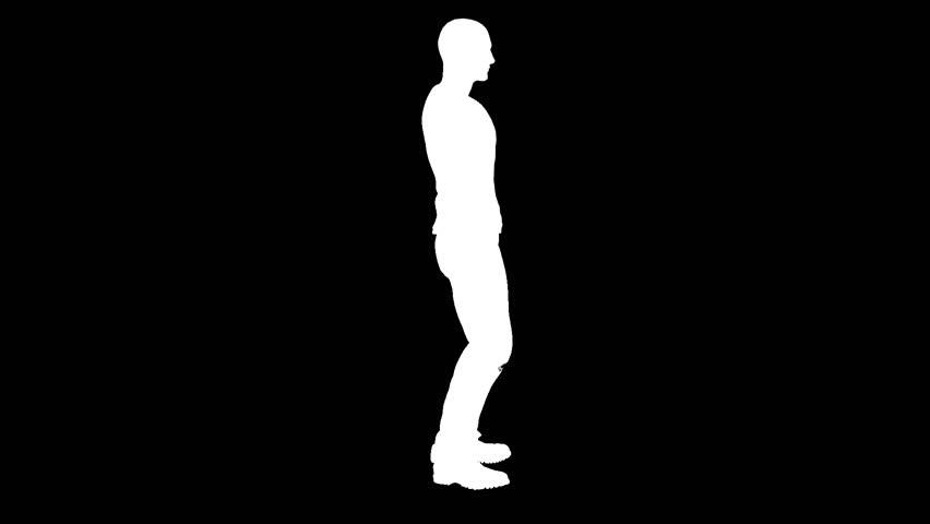 Silhouette of a man dancing the robot. Alpha channel. Alpha matte. FullHD. | Shutterstock HD Video #1016799466