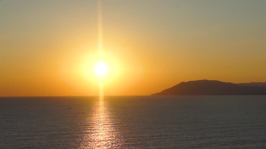 Serenity sunset on the smooth Black sea in summer | Shutterstock HD Video #1016825716