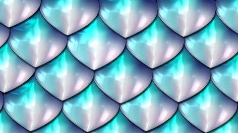 Holographic fantasy fish scale background. Mermaid skin texture pattern. Dragon skin scales design with pearly glow.