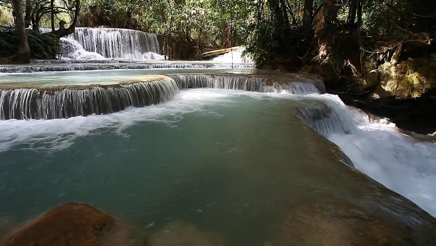 Tad Kuang Si Waterfall - interesting place in Luang Prabang,Laos