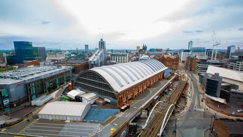 Manchester Skyline Timelapse