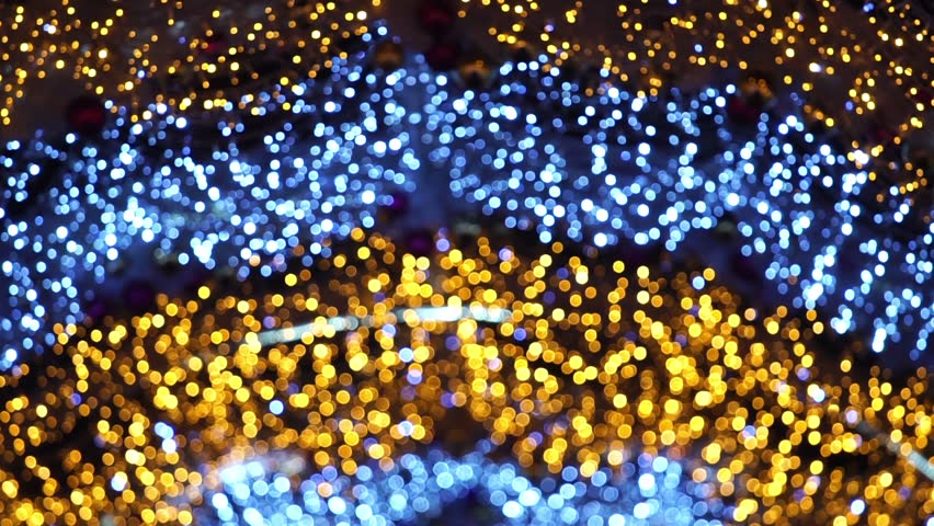 Abstract christmas background with colorful bokeh light effects | Shutterstock HD Video #1017068686