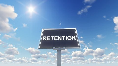Retention Concept with Rotating Sign