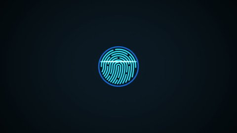 Finger-print Scanning Identification System. Biometric Authorizations and approval. concept of the future of security and password control through fingerprints in an advanced technological future.