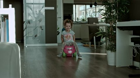 Cute kids playing at home