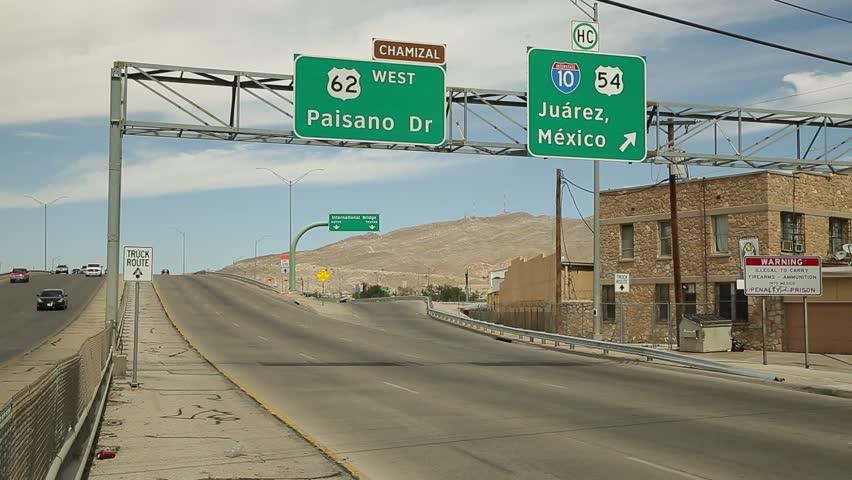 USA - Mexico boundary, May 22, 2016: U.S.A. - Mexico Border, El Paso and Ciudad Juarez Border