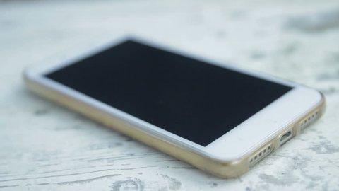 Incoming call on smart phone