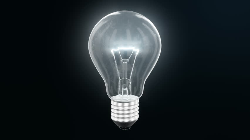 Explosion of an incandescent lamp or ligh bulb. Small pieces of glass fly apart in different directions. The effect of slowing down the time after the explosion. Problem solving concept. | Shutterstock HD Video #1017519526