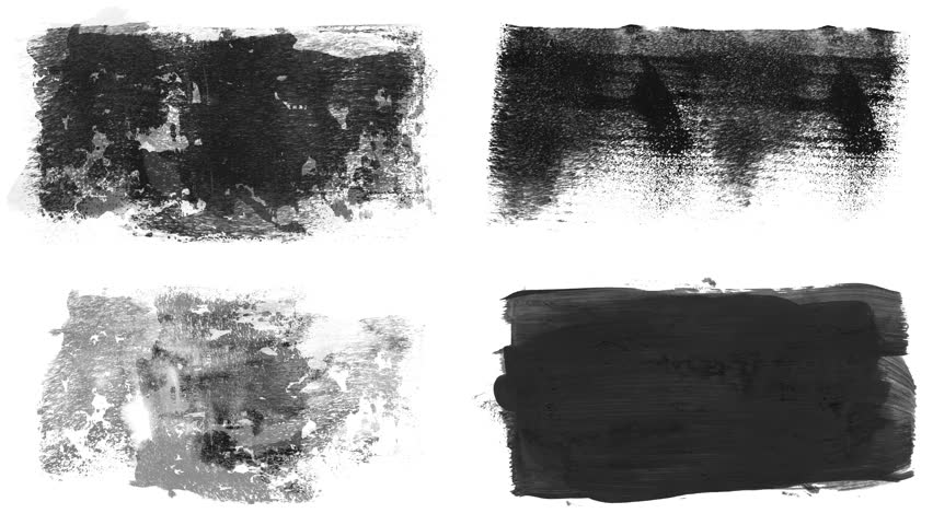 Set of grunge brush stroke. Abstract hand - painted element. Underline and border design. Seamless looping background. 4K | Shutterstock HD Video #1017528076