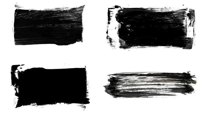 Set of grunge brush stroke. Abstract hand - painted element. Underline and border design. Seamless looping background. 4K | Shutterstock HD Video #1017528226
