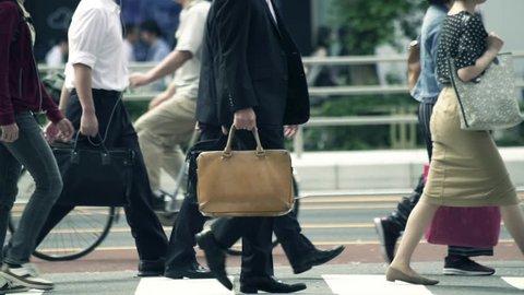 Tokyo business walking