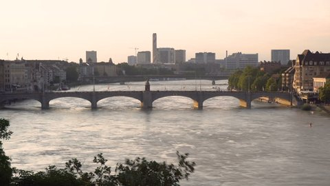 Basel and River - Beautiful Iconic View
