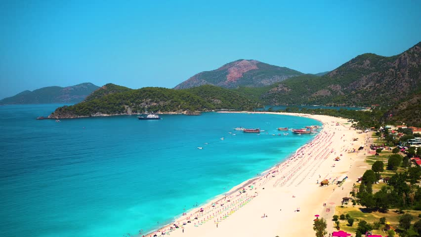 Fethiye Turkey Beach General Shot Stock Footage Video 100