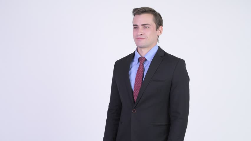 Young happy handsome businessman clapping hands | Shutterstock HD Video #1018140046