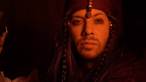 Johnny Depp Pirate Royalty Free Stock Footage