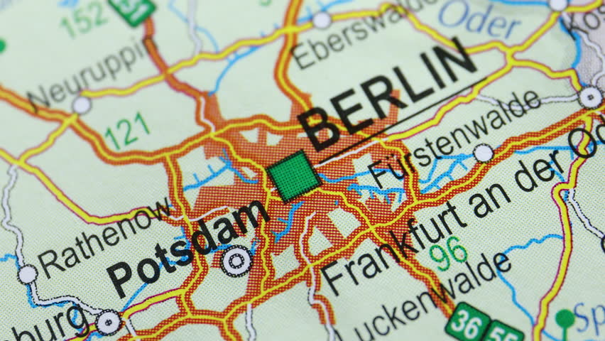 Map from the top, moving from Berlin to Hamburg, foreign affairs | Shutterstock HD Video #1018196026