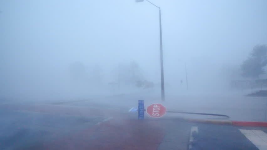 Hurricane Florence Eyewall In Wilmington NC
