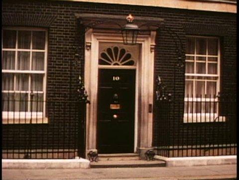 LONDON, ENGLAND, 1976, Number Ten Downing Street, No. 10, wide shot