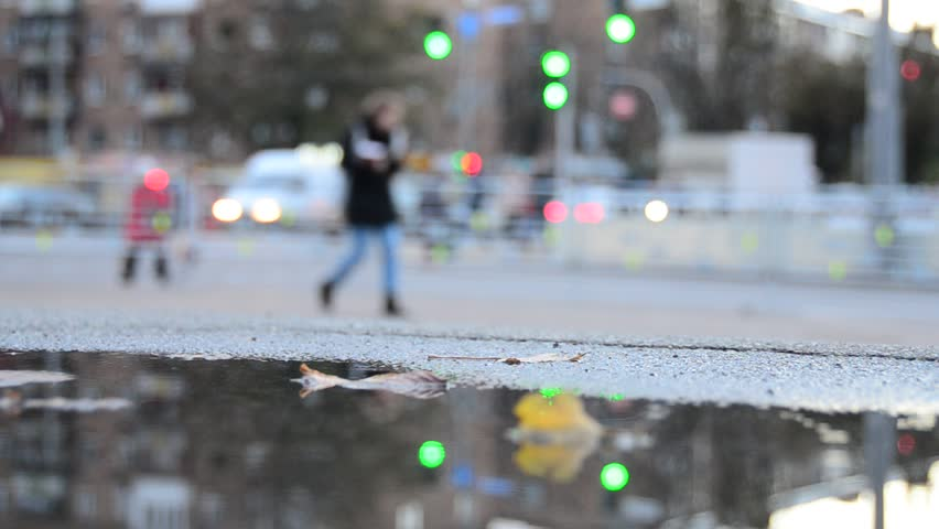City street lights, rainy day   Shutterstock HD Video #1018386856
