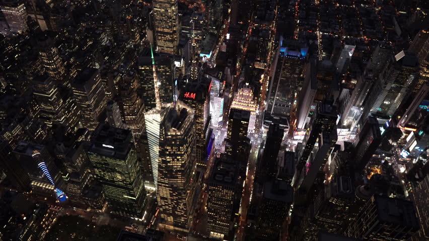 New York City Circa-2015, Aerial View | Shutterstock HD Video #1018390756